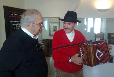 Monsieur Lessard in visita al museo internazionale della Fisarmonica di Castelfidardo