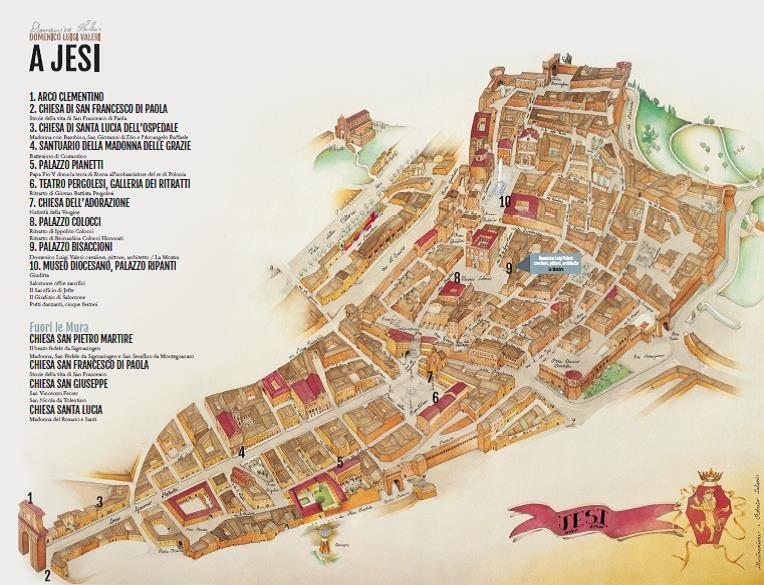 Cartina Jesi.Guide Turistiche Delle Marche Jesi